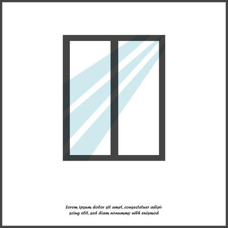 Fenstervektorillustration auf weißem lokalisiertem Hintergrund. Ebenen für die einfache Bearbeitung der Illustration gruppiert. Für Ihre Gestaltung. Vektorgrafik
