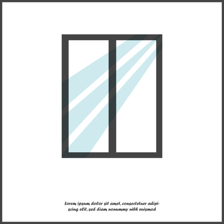 Illustrazione di vettore della finestra su fondo isolato bianco. Livelli raggruppati per un facile montaggio dell'illustrazione. Per il tuo disegno. Vettoriali
