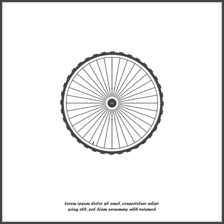 Vector wheel icon illustration on white isolated background. Layers grouped for easy editing illustration. For your design.