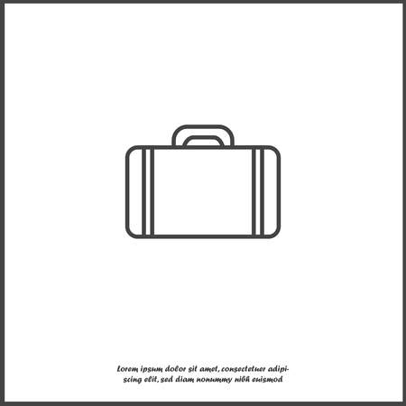 Vector suitcase icon on white isolated background. Layers grouped for easy editing illustration. For your design. Illustration