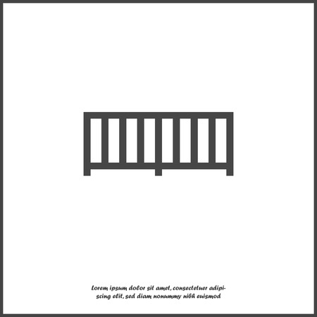 Vector  fence icon on white isolated background. Layers grouped for easy editing illustration. For your design. Vectores