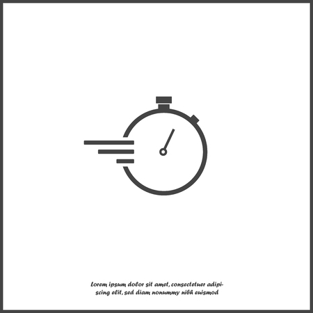 Stopwatch vector icon on white isolated background.Layers grouped for easy editing illustration. For your design.
