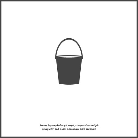 Vector icon bucket on white isolated background. Layers grouped for easy editing illustration. For your design. Illustration
