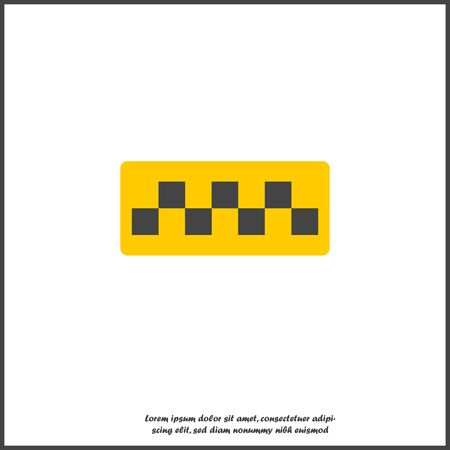 Taxi checkers vector icon on white isolated background. Layers grouped for easy editing illustration. For your design. Banque d'images - 132868320