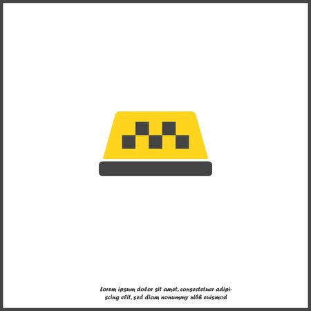 Taxi checkers vector icon on white isolated background. Layers grouped for easy editing illustration on white isolated background Banque d'images - 132868442