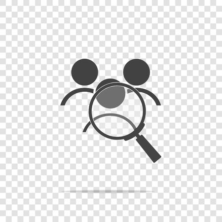 Vector icon of employee search, handhunter. Symbol of work. Job icon vector icon on transparent background. Layers grouped for easy editing illustration. For your design