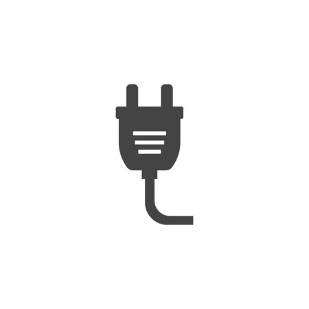 Vector icon electric plug on white isolated background. Layers grouped for easy editing illustration. For your design.