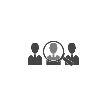 Vector icon of employee search, handhunter. Symbol of work. Job icon vector icon on white background. Layers grouped for easy editing illustration. For your design. Illustration
