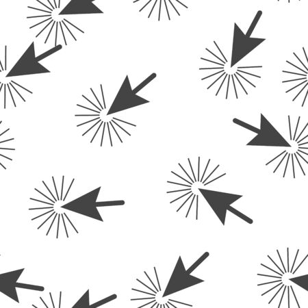 Arrow, the cursor pointing to the point. The cursor clicks seamless pattern on a white background. Layers grouped for easy editing illustration. For your design
