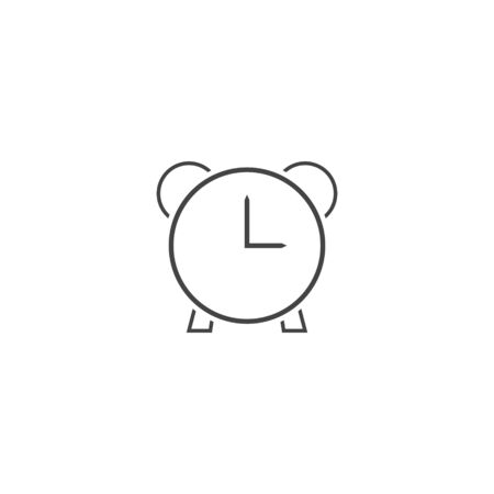 Vector icon ringing alarm clock on white isolated background. Layers grouped for easy editing illustration. For your design