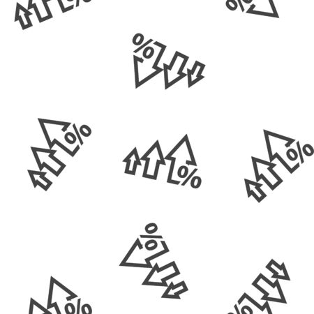 Vector icon down and up arrow seamless pattern on a white background. Layers grouped for easy editing illustration. For your design