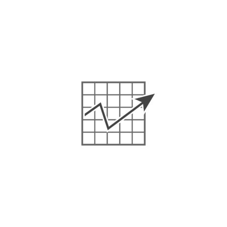 Vector business graph icon on white isolated background. Layers grouped for easy editing illustration. For your design.