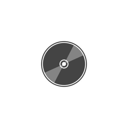 Vector image of a computer laser disk. Disk for data recording and information on white isolated background. Layers grouped for easy editing illustration. For your design. Vektorové ilustrace
