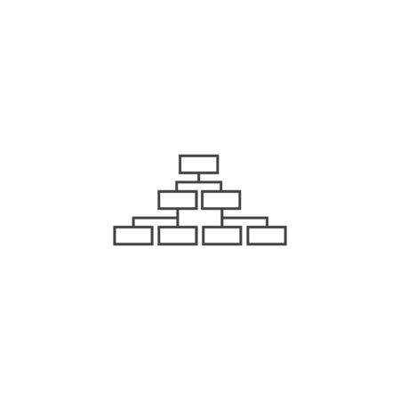Vector structure, hierarchy icon on white isolated background. Layers grouped for easy editing illustration. For your design.