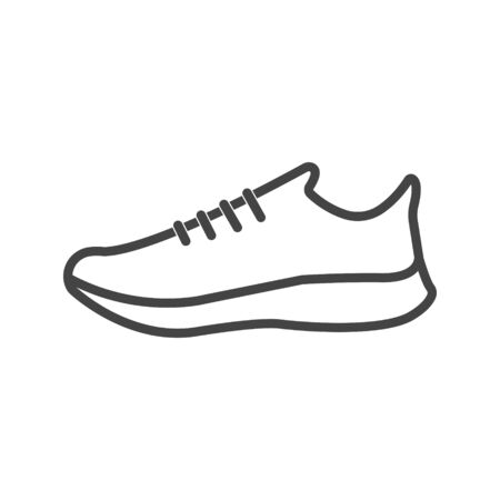 Vector icon sports shoes sneakers on white isolated background. Layers grouped for easy editing illustration. For your design.