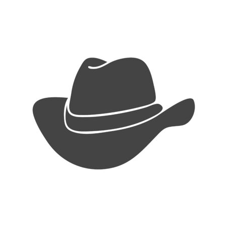 Cowboy hat vector icon on white isolated background. Layers grouped for easy editing illustration. For your design.