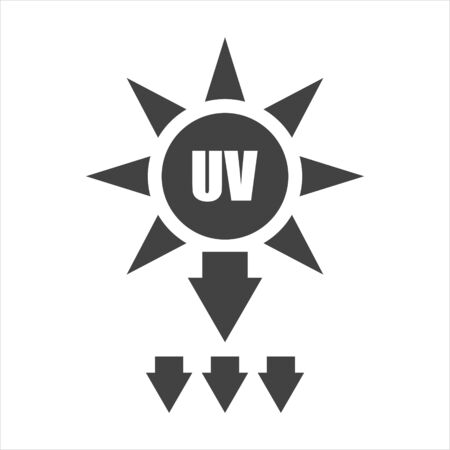 UV protection vector icon on white isolated background. Layers grouped for easy editing illustration. For your design.