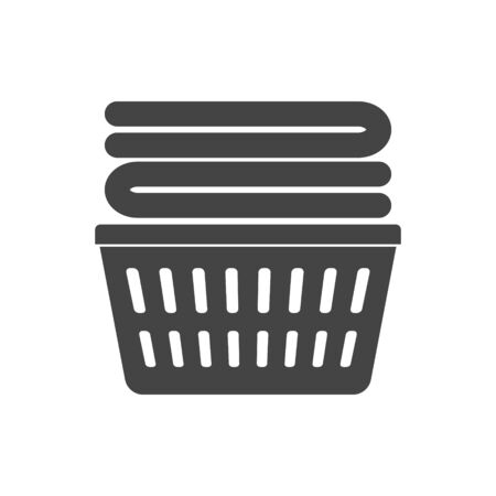 Vector icon of laundry basket on white isolated background. Layers grouped for easy editing illustration. For your design. Illustration