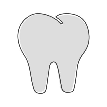 Vector tooth icon. Dentistry illustration cartoon style on white isolated background. Layers grouped for easy editing illustration. For your design. Illusztráció