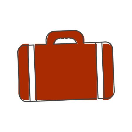Vector suitcase icon cartoon style on white isolated background. Layers grouped for easy editing illustration. For your design. Illusztráció