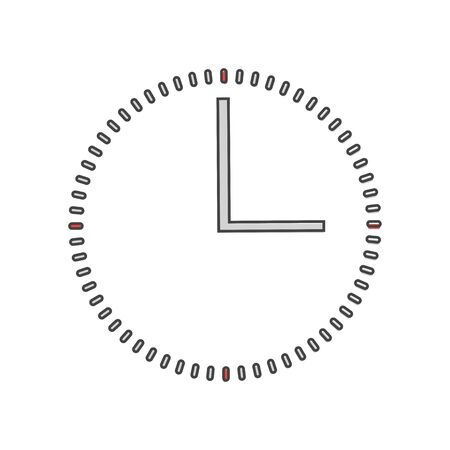 Clock icon  cartoon style on white isolated background. Layers grouped for easy editing illustration. For your design.