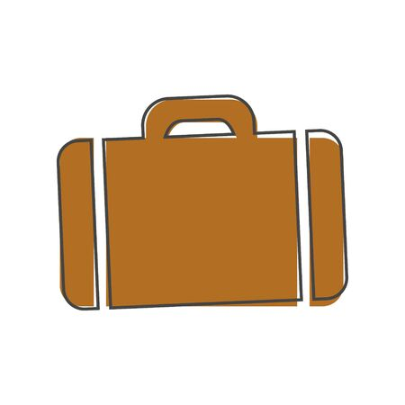 Vector suitcase cartoon style on white isolated background. Layers grouped for easy editing illustration. For your design.