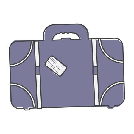 suitcase icon cartoon style on white isolated background. Layers grouped for easy editing illustration. For your design.