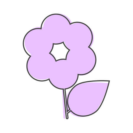 Flower vector icon. Minimalist design cartoon style on white isolated background. Layers grouped for easy editing illustration. For your design.