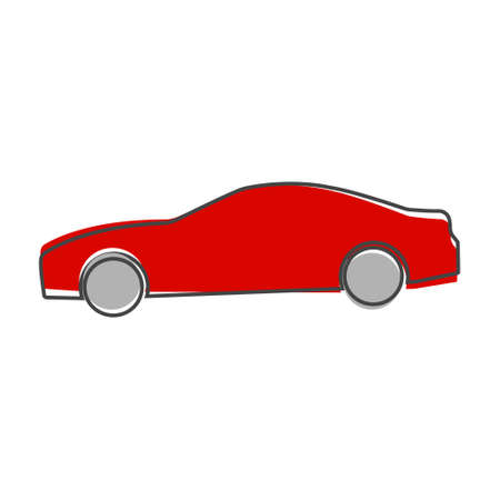 Cars vector icon. Symbol of the road transport icon cartoon style on white isolated background. Layers grouped for easy editing illustration. For your design.