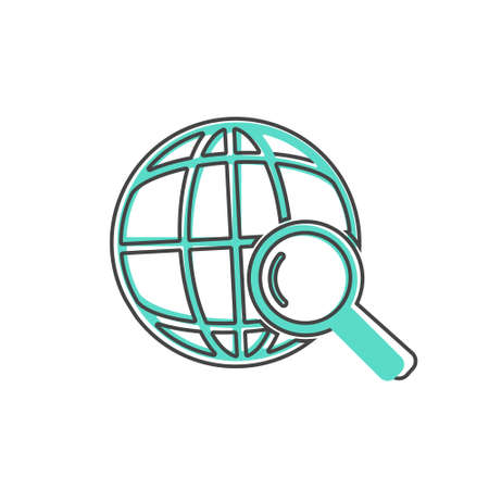Carbon dioxide vector icon cartoon style on white isolated background. Layers grouped for easy editing illustration. For your design.
