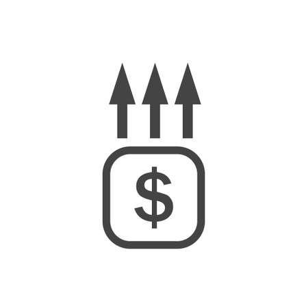 Income level growth vector icon on white isolated background. Layers grouped for easy editing illustration.