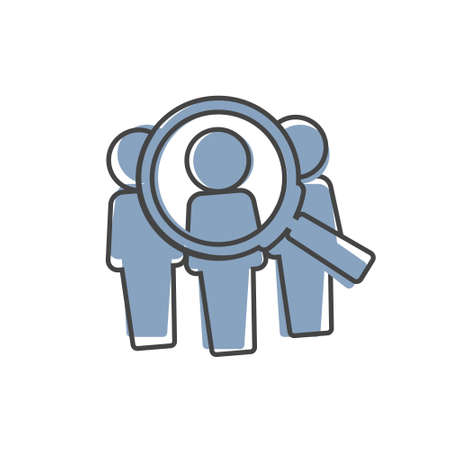 Candidate vector icon on cartoon style on white isolated background. Layers grouped for easy editing illustration.
