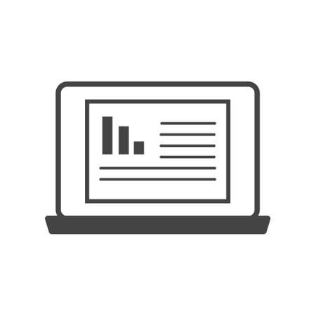 Dashboard icon on monitor cartoon style on white isolated background. Layers grouped for easy editing illustration.