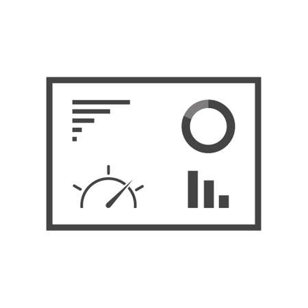 Dashboard icon cartoon style on white isolated background. Layers grouped for easy editing illustration. Illusztráció