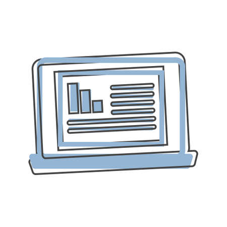 Vector illustration of a modern computer monitor. Monitor with white blank screen on white isolated Layers grouped for easy editing illustration. For your design. Vectores