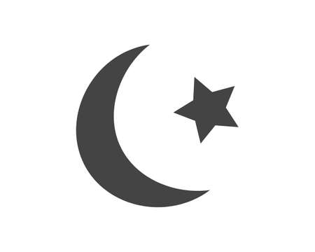 Vector icon symbol of Islam on white isolated background. Layers grouped for easy editing illustration. For your design. 矢量图像