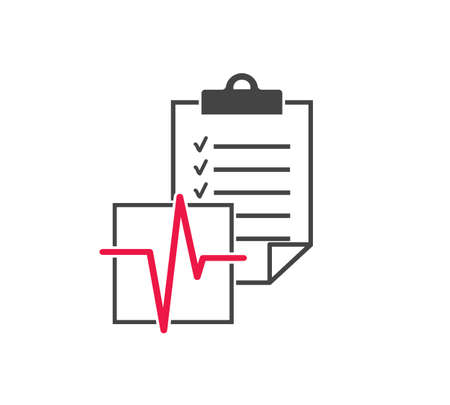 Medical diagnosis vector icon on white background. Layers grouped for easy editing illustration. For your design.