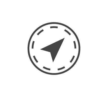 Navigation vector icon on white isolated background. Layers grouped for easy editing illustration. For your design. 矢量图像