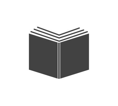 Vector icon of an open book on white isolated background. Layers grouped for easy editing illustration. For your design.