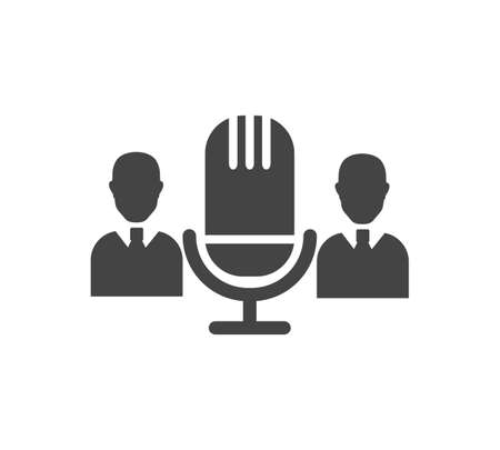 Audio conference vector icon on white isolated background. Layers grouped for easy editing illustration. For your design.