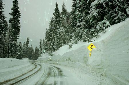 Road sign, mt Baker, WA Stock Photo - 370021