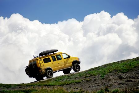 tough: Off roading in Colorado Rocky Mountains