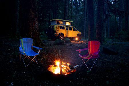 Camping with 4x4 RV van at Mt.Rainier State Park, WA
