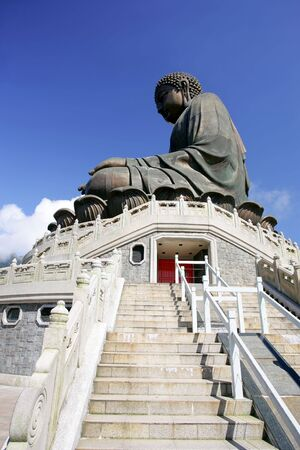 Big Buddha statue on Lantau Island, Hong Kong photo