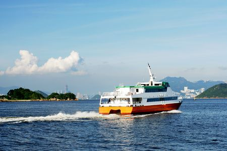 Fast ferry boat going to Hong Kong Stock Photo - 3417988