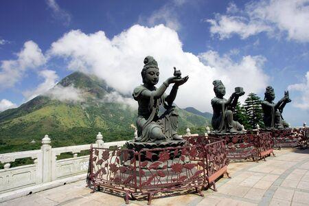 lantau: Statua di Buddha su Lantau Island, Hong Kong Archivio Fotografico