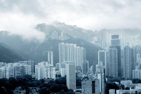Foggy morning in Happy Valley, Hong Kong