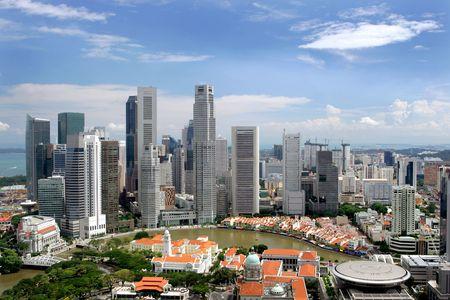 megalopolis: Skyline of Singapore business district, Singapore