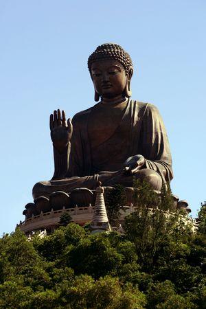 lantau: Big Buddha statue on Lantau Island, Hong Kong Stock Photo