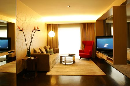 Contemporary living room in modern hotel Stock Photo - 4307563